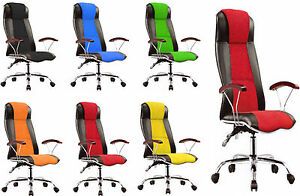 Details zu PC Desk Racing Gaming Chair Adjustable Leather Swivel Chair Wheel Arm Rest