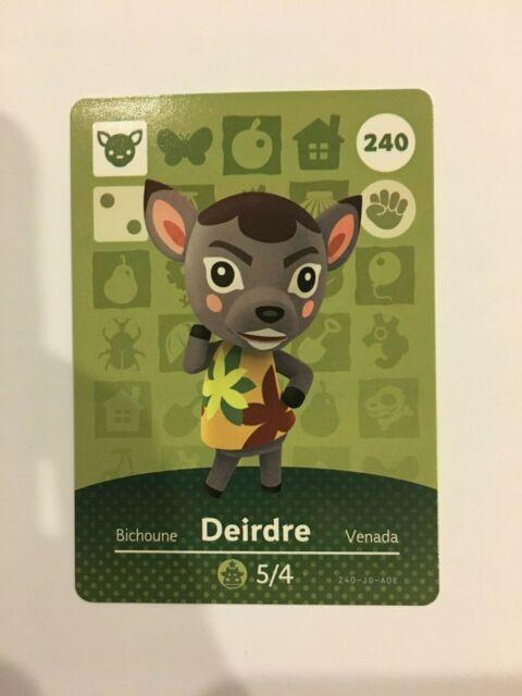 Animal Crossing Amiibo Card Deirdre the Deer Series 3 #240 ...