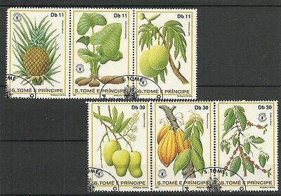 Briefmarken FrÜchte+pflanzen/ S.tome+princ Minr 744/49 A O Preisnachlass
