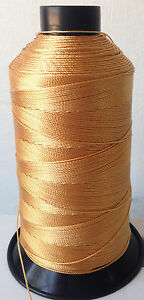 Gold Bonded Nylon SEWING Thread #92 T90 Upholstery bag shoe leather 1850 yds