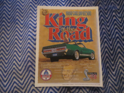 1968 SHELBY GT500 KING OF THE ROAD NEW PROMO POSTCARD
