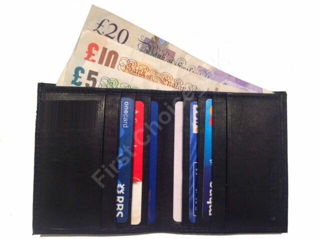 QUALITY Real Leather Credit Card Wallet Holder Slim Mini Travel Business Money