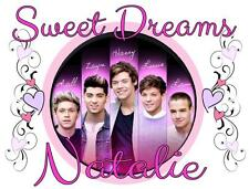 """ONE DIRECTION #16 Personalized PILLOWCASE """"SWEET DREAMS"""" Any NAME Super Soft"""