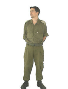 6419c5ef IDF, Israeli Army Military 100% Cotton Fatigue Bet Combat Olive ...