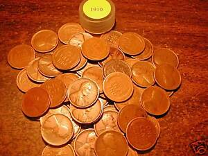 1910-P-LINCOLN-WHEAT-CENT-PENNY-ROLL-50-coins