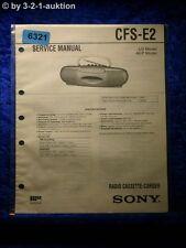 Sony Service Manual CFS E2 Cassette Corder (#6321)