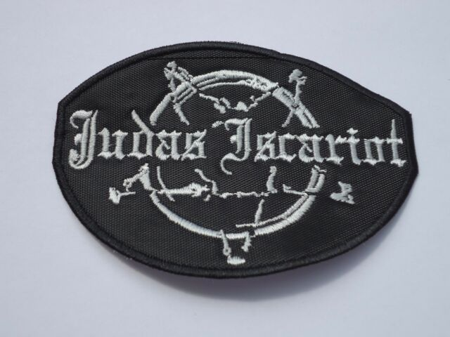 JUDAS ISCARIOT EMBROIDERED BLACK METAL PATCH