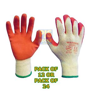 12 o 24 PAIA X lattice di gomma Palm Guanti Grip Costruttori Giardinieri Gripper Guanti
