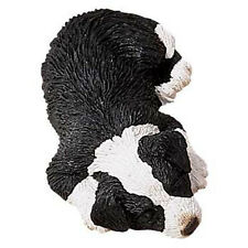 Sandicast Figurine Sculpture: Border Collie Snoozer Dog (SZ066)