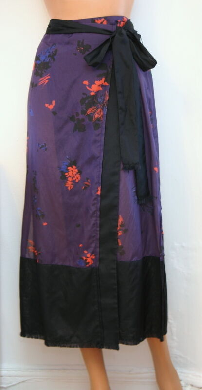 Proenza Schouler Cover-Up Pareo Decorative Floral Print Purple Size Small