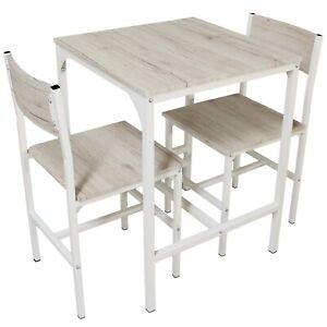 Sedie In Rovere Per Cucina.Dettagli Su Set Tavolo Bar Con 2 Sedie Rovere Beige Cucina Tavolino Comodi Mod Portofino