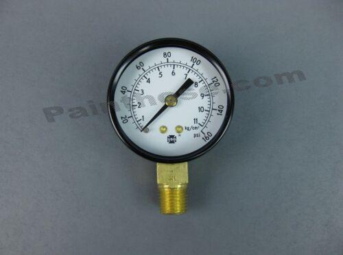 """Air Pressure Gauge 0-160PSI 1//4/"""" NPT #28-766"""