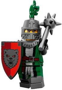 LEGO-Minifigures-Series-15-Grim-Knight-with-helmet-mace-shield-suit-castle-set