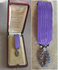 Medaille de chevalier de l'ordre des palmes Academiques, argent, modele de luxe