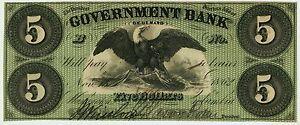 Washington-DC-Government-Bank-5-Nov-15-1862-Gr6-Superb-Gem-Crisp-Example