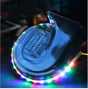 12V-105-118dB-Universal-Single-Sound-Snail-Horn-With-LED-Lights-Blue-Body