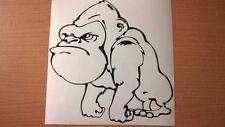 funny fun gorilla ape vinyl car sticker graphic rear window wall art laptop door
