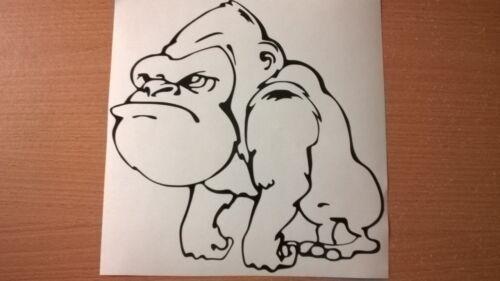 Petit Plaisir Gorilla Ape Vinyle Autocollant Voiture Graphique vitre arrière Wall Art Portable Porte