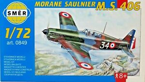 SMER-MORANE-SAULNIER-MS-406-franzoesisches-Flugzeug-Bausatz-1-72-0849-OVP-NEU