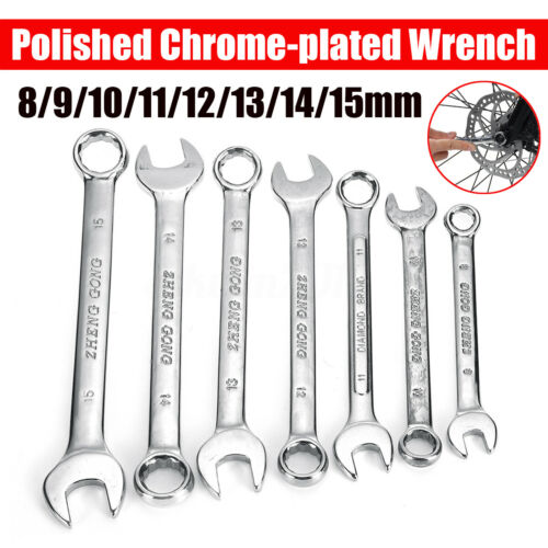 8-15MM Dual-use Stubby Ratchet Wrench Hexagon Nuts Socket Spanner Repair Tool