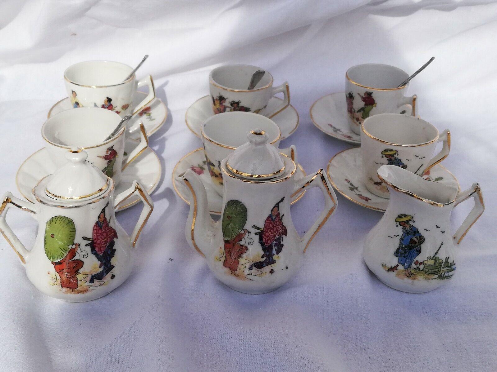 Dinette ancienne porcelaine japonisante 1900