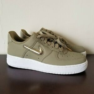 ef29cef005 Nike Wmns Air Force 1 '07 Premium Neutral Olive Metallic Gold Star ...