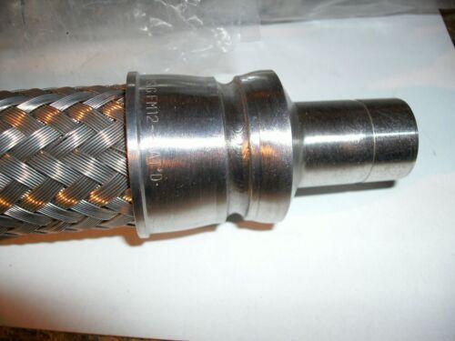 "SWAGELOK SS-FM12TA12T-15/"" Convoluted Hose 3//4/"" 316L SS Braid ¾/"" Tube Adapters/"""