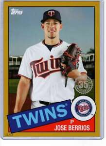 Jose-Berrios-2020-Topps-1985-35th-Anniversary-5x7-Gold-85-62-10-Twins