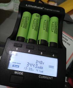 4x Panasonic Ncr18650b 3400mah Rechargeable18650 Li Ion