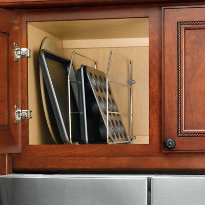 Rev A Shelf Two Kitchen Cabinet Sink Or Base 12 Or 18 Tray Dividers With Clips Ebay