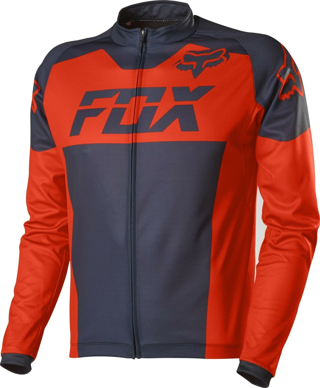 Fox Racing 2015 Livewire Race Mako L S Long Sleeve Jersey Flo Orange