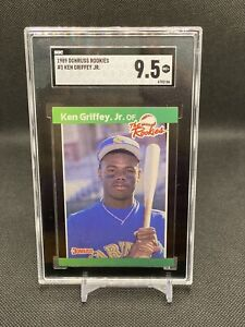1989 Donruss The Rookies Ken Griffey Jr. ROOKIE CARD RC #3 SGC 9.5 GEM MINT🔥