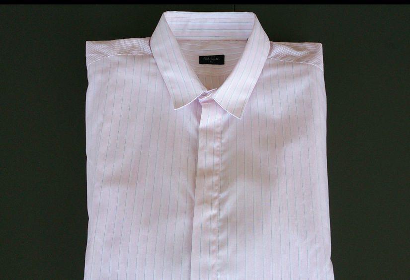Paul SMITH PS CAMICIA-nuova luce contrasto rosa PIN STRIPE   Slim Fit   RRP  .00