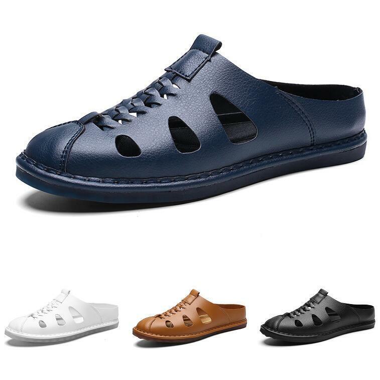 Para Hombre Slip On Beach cerró Toe Transpirable Zapatillas Sandalias Zapatos sin Taco Talla Plus