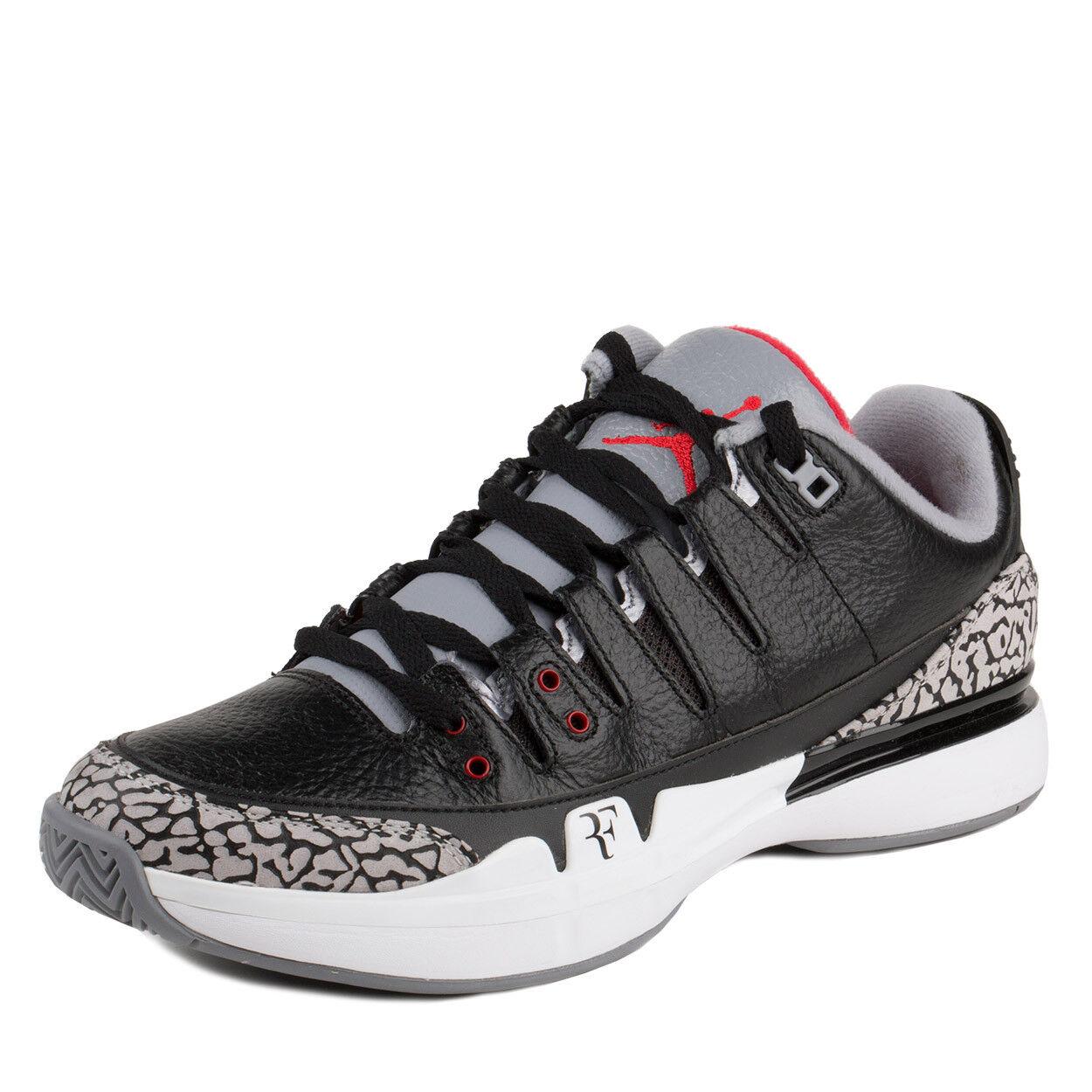 Nike Mens Zoom Vapor AJ3 Black White-Cement Grey 709998-010 Sz 6