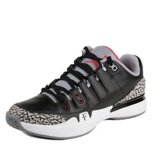1fb7f008 Nike Mens Zoom Vapor AJ3 Black/White-Cement Grey 709998-010 Sz 6 | eBay