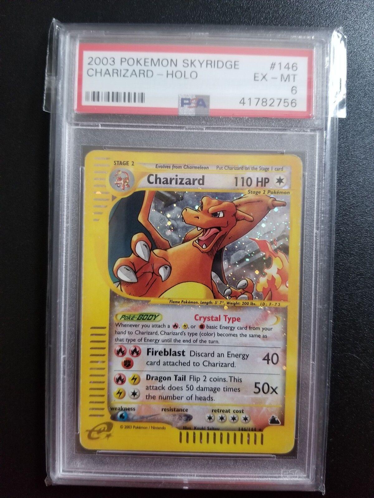 seguro de calidad Pokemon skyridge Cristal Charizard PSA 6 6 6 146144 acuático no Estrella de Oro  Web oficial