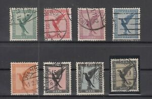 X4564/ GERMANY REICH – AIRMAIL – MI # 378 / 384 COMPLETE USED – CV 205 $