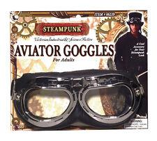 Steampunk Ciencia # Fiction Aviador Negro Gafas Disfraz Accesorio