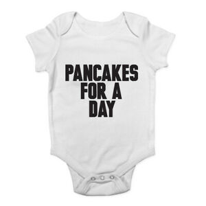 Pancakes-for-a-Day-Boys-Girls-Baby-Grow-Vest-Bodysuit