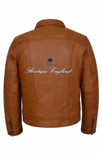 Leather Jacket Tan Classic Trucker Men's vqwUzAEx