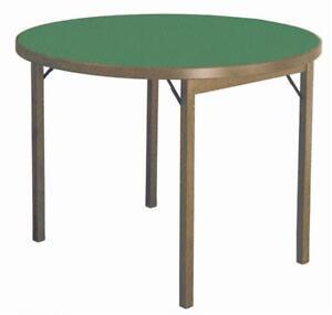 Tavolo Tondo Diametro 120.Tavolo Da Gioco Panno Verde In Legno Di Faggio Tondo Diametro Cm