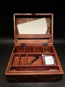 Antique-Vintage-Style-Travel-Wood-Writing-Set-Desk-Box