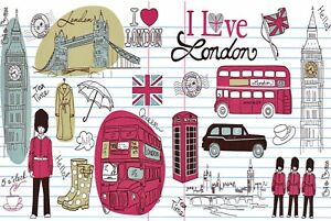 Pack-of-6-NEW-London-Postcards-England-UK-Icons-City-View-Travel-56L