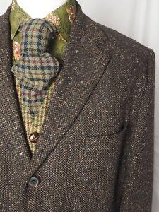 CINQUE-Brown-Speckled-Wool-Silk-Blend-Donegal-Tweed-Jacket-XL-UK-44-Long
