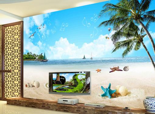 3D Scenery Beach 7423 Wall Paper Murals Wall Print Wall Wallpaper Mural AU Kyra