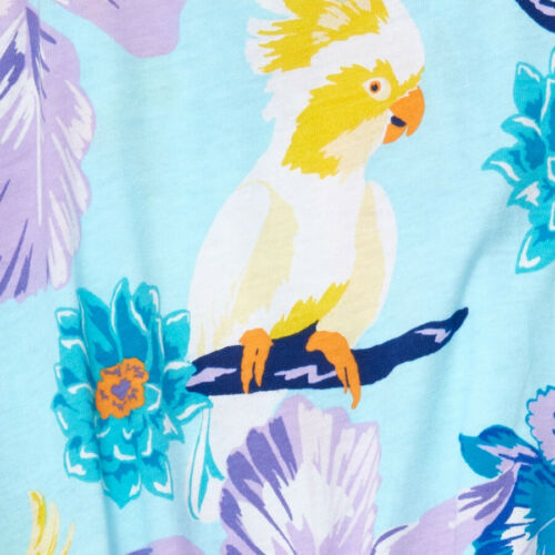NWT The Children/'s Place Cockatoo Tropical Bird Girls Blue Romper Jumpsuit