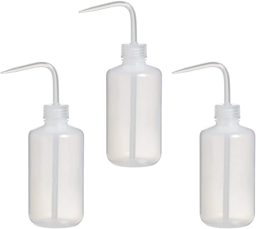 3 Pcs 250 ml Watering Can, Plastic Safety Squeeze Bottle Safety Wash Bottle for