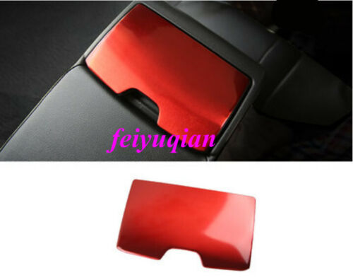 Red Stainless Rear Seat water cup holder Panel Cover For Toyota Camry 2018 2019