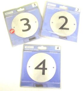 Image is loading HOMEBASE-11-4mm-Stainless-Steel-HOUSE-NUMBER-Hand-  sc 1 st  eBay : homebase door numbers - pezcame.com